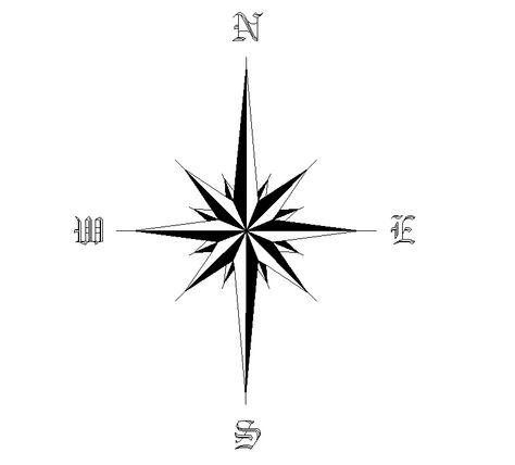North Arrow Star Tattoo