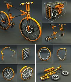 eco // 07 Even the Wheel can be folded - folding bike - bici pieghevole