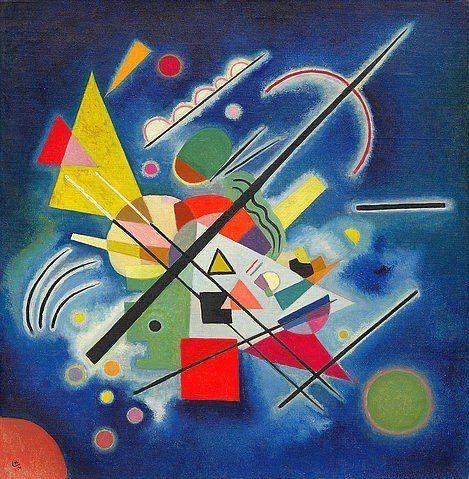 Blaues Bild 1924 Von Wassily Kandinsky 205280 Abstrakte Kunst Wassily Kandinsky Kandinsky Idee Farbe