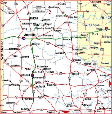 Map Of Texas Panhandle Texas Panhandle Panhandle Texas Map