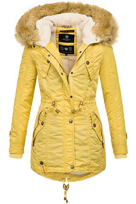 get cheap 218a4 7ee13 Navahoo warme Damen Winter Jacke Teddyfell Winterjacke Parka ...