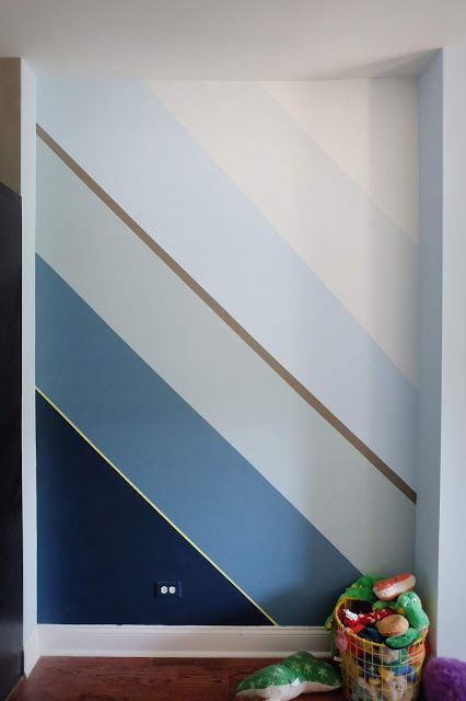 Hand Painted Wall Mural Diy Wall Painting Painting Stripes On