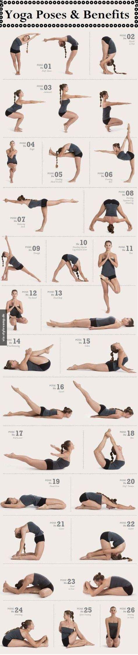 Bikram Yoga Poses   26 Yoga Posen die man mal ausprobieren sollte!  Entdeckt von www.vegaliferocks.de I Fleischlos glücklich, fit & Gesund I Follow me for more inspiration  @ vegaliferocks