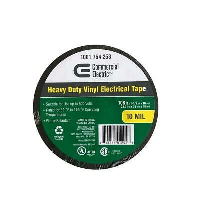 Ad Ebay Url Heavy Duty Vinyl Electrical Tape 1 1 2 X 108ft 10 Mil 600v Flame Retardant In 2020 Electrical Tape Liquid Electrical Tape Commercial Electric