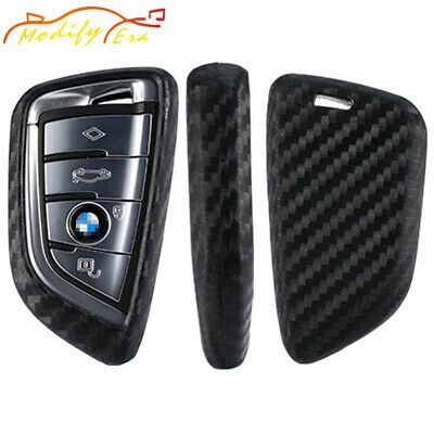 Details About Carbon Fiber Silicone Smart Key Fob Cover Case For Bmw X1 X5 X6 X7 5 7 Series Smart Key Fobs Carbon Fiber
