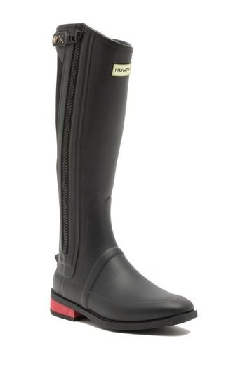 Hunter Wellesley Rubber Riding Boot | Boots, Timberland