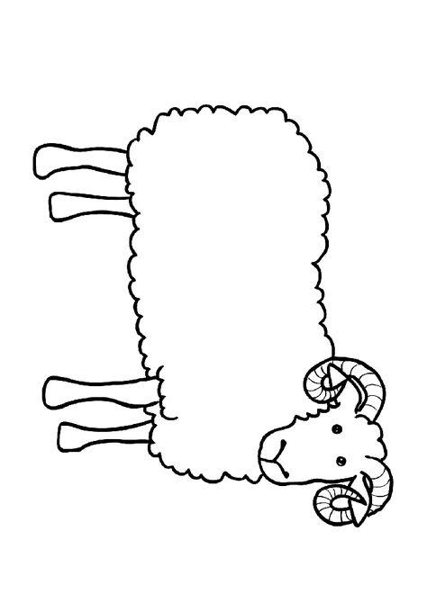Koyun Keçi Boyama Sayfası Boyama Sayfasi Coloring Pages Animal