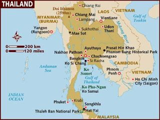 Ancient kingdom of Siam is presently known as the land of the Thai