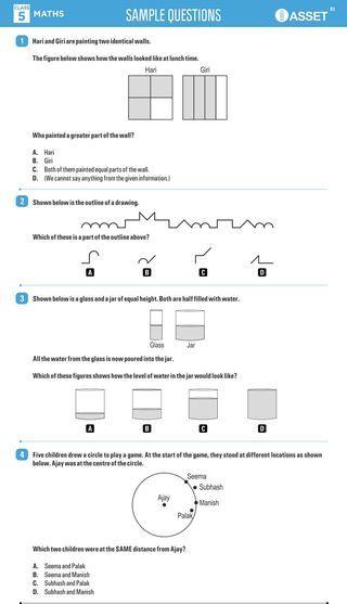 Asset Sample Question Paper Class 5 Olympiad Tester Sample Question Paper Question Paper Math Practice Worksheets Free math olympiad worksheets for grade