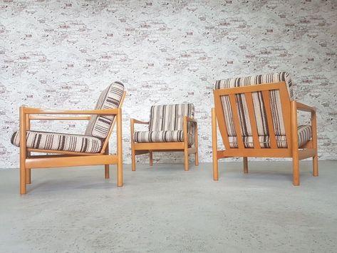 Details Zu Mid Century Modern Vintage Easy Chair Sessel Danish