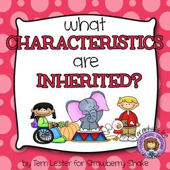 Students analyze examples of characteristics that may be inherited and circle INHERITED or NOT INHERITED for each one. Adorable graphics from This.