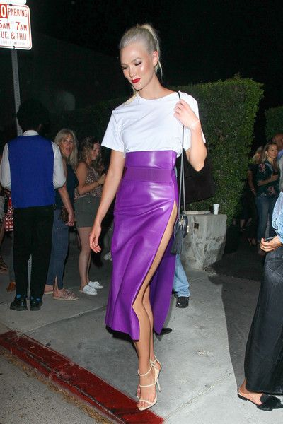 Karlie Kloss is seen in Los Angeles, California.