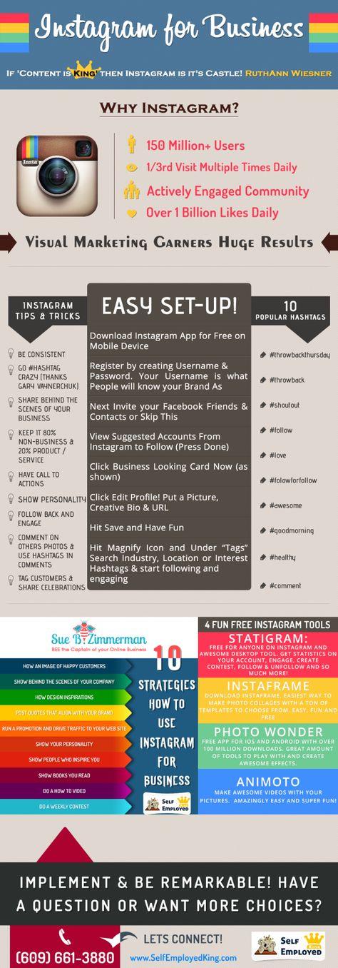 Instagram for business #infografia #infographic #socialmedia. www.DashingWithAPurpose.net