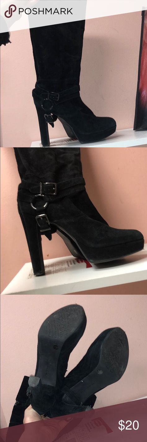 bd8f3d0777c Gianni Bini Leather Buckle Knee High Boots My Posh Picks