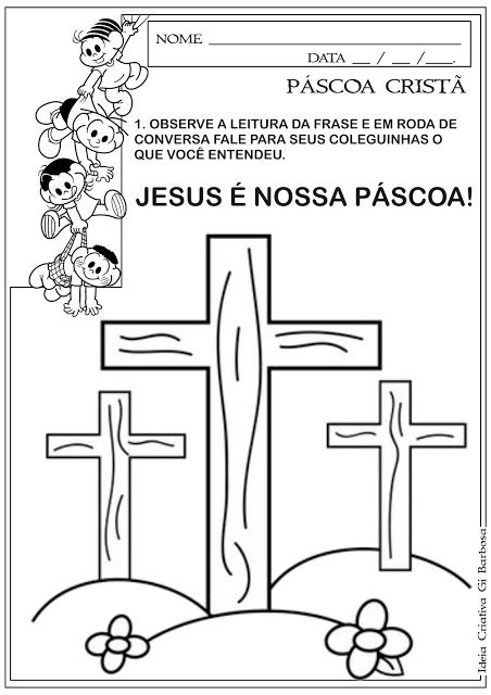Atividade Pascoa Crista Cruz Simbolo Da Pascoa Pascoa Crista