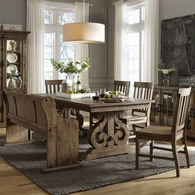 Filkins Extendable Dining Table With Images Farmhouse Style Dining Room Rustic Farmhouse Dining Table