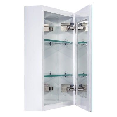Miseno Mbc2016 Dual Mount 20 X 16 Beveled Medicine Cabinet Surface Or Recessed Mounting Brushed Nickel Recessed Medicine Cabinet Cabinet Medicine