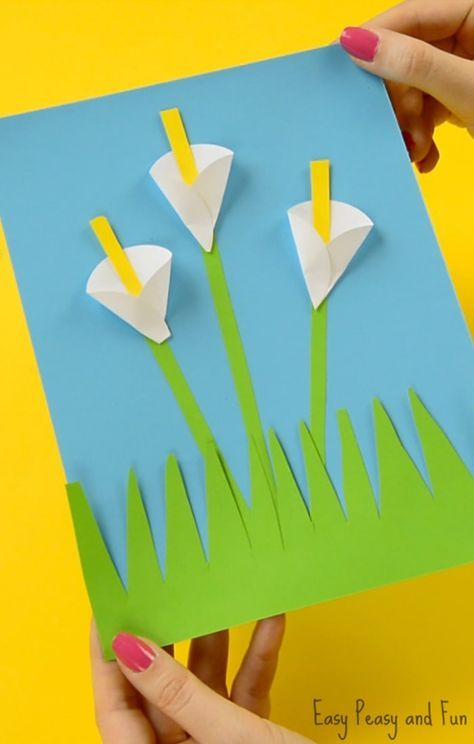 Calla Lily Paper Craft Flower Craft Ideas Construction Paper