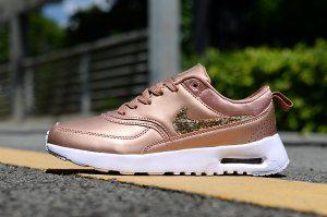 39d5850e2415 Womens Shoes Nike Air Max Thea 87 Brown White Metal Gold