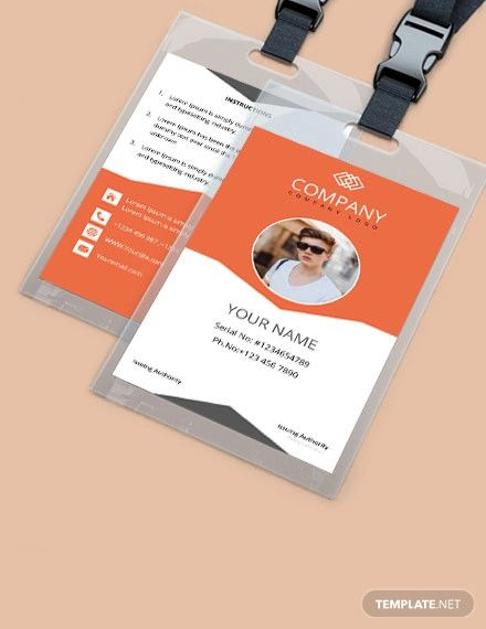 Free Sample Company Id Card Template Word Doc Apple Mac Pages Publisher Id Card Template Company Id Identity Card Design