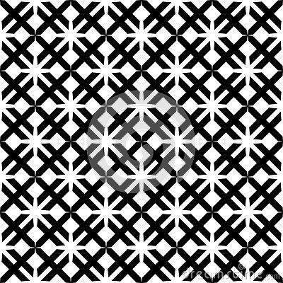 Vector Modern Seamless Geometry Pattern Star Black And White