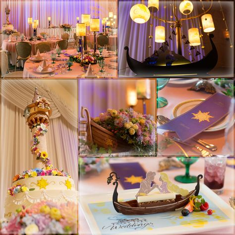 Wedding Themes Just like in our U. Disney Parks, Tokyo Disney Resort offers its guest a chance to have a Disney wedding either at its parks or resorts. But in a move that places them head and shoulders above Di. Frozen Wedding Theme, Tangled Wedding, Disney Inspired Wedding, Tangled Party, Wedding Themes, Wedding Decorations, Wedding Disney, Wedding Ideas, Disney Themed Weddings