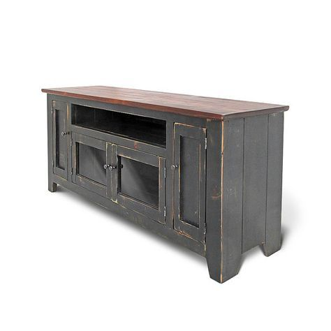 Rustic Entertainment Console Media Console Handmade Console Cabinet Reclaimed Wood TV Stand