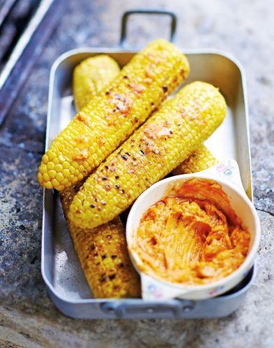 Maïs grillé au beurre pimenté