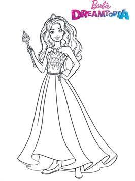 Schone Malvorlage Barbie Glitter Kingdom Auf Kids N Fun De Barbie Malvorlagen Malvorlagen Ausmalbilder