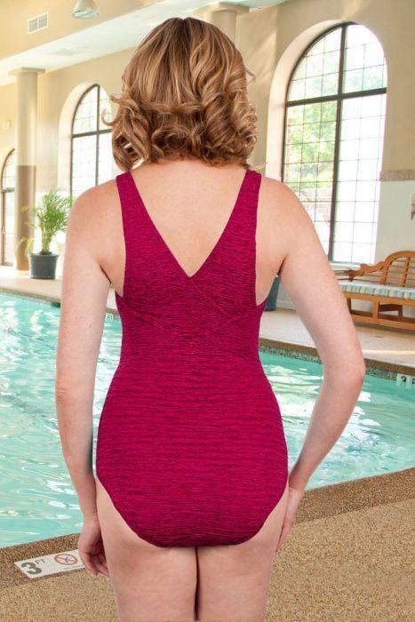 Krinkle Berry Cross Back One Piece Chlorine Resistant Swimsuit Chlorine Resistant Swimsuits One Piece Chlorine Resistant Swimwear