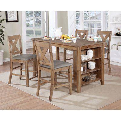 Alcott Hill Ilya 5 Piece Counter Height Dining Set Wayfair In 2020 Counter Height Dining Table Set Counter Height Dining Sets Kitchen Island Table