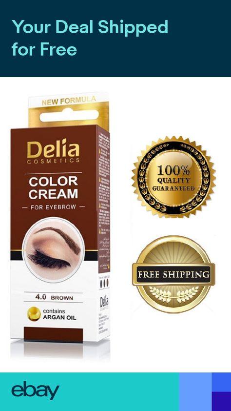 2f2f28efcab Delia Eyelash & Eyebrow Dye Tint Lash Kit Full Kit With Argan Oil Brown NEW