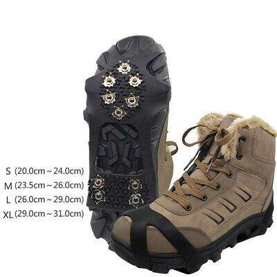 Details About 10 Teeth Anti Slip Ice Snow Hiking Climbing Shoe Spike Cleats Crampons Grips Us Climbing Shoes Cleats Shoes Boots