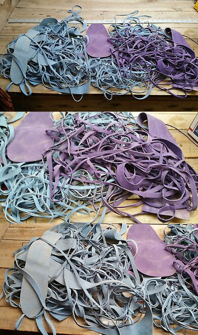 Leather Lacing And Cords 71187 Suede Lace And Leather Scraps