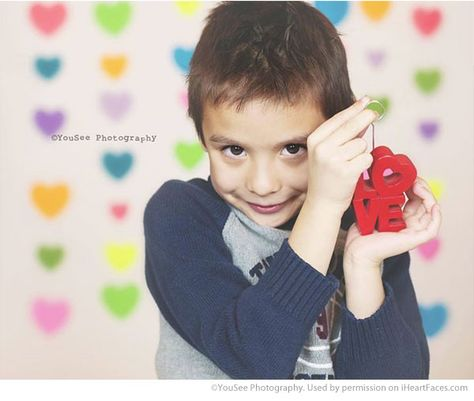 Valentines Day Photography Inspiration - Child Portrait by YouSee Photography via iHeartFaces.com