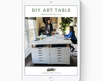 Fold Down Table Craft Table Plan Craft Table Plan Space Saver Etsy Fold Down Table Craft Tables With Storage Craft Room Tables
