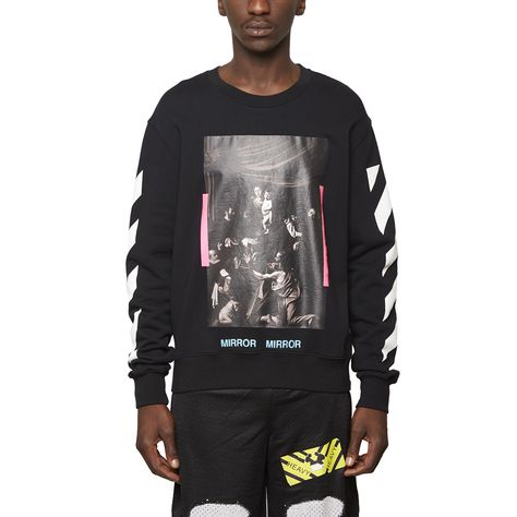 df69de61 Diagonals Caravaggio sweatshirt from the S/S2017 Off-White c/o Virgil Abloh  collection in black