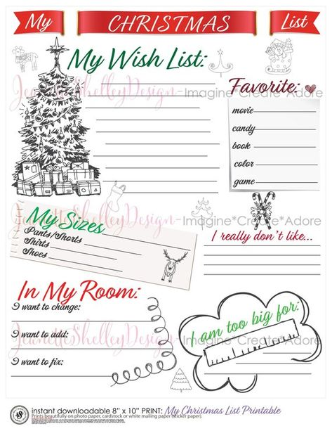 instant download...(shown as is) Printable List