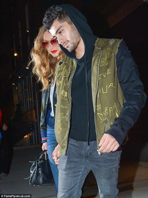 Made it work: The couple have reportedly been dating since last December, after only briefly splitting for about a week in June #Gigi #Hadid #Lips #nails #red #retro #selfie #shows #Stunning