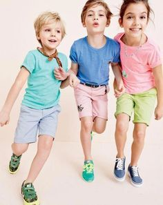 Our crewcuts Stanton shorts (in new stretch styles and a gazillion hues) and lightweight linen shorts are the best.