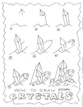 This Is Used With My Youtube Video Art With Trista How To Draw Crystals Https Www Youtube Com Watch V Llmg Crystals Art Drawing Crystal Drawing Drawings