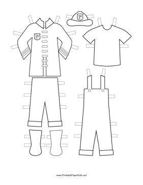 Phenomenal These Free Printable Fireman Paper Doll Uniforms Feature Download Free Architecture Designs Scobabritishbridgeorg