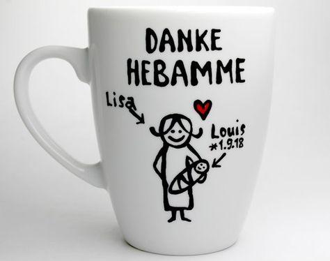 personalisierte Hebamme Geschenk Tasse mit Hebamme Spruch Hebamme Tassen Geschenk f/ür die beste Hebamme