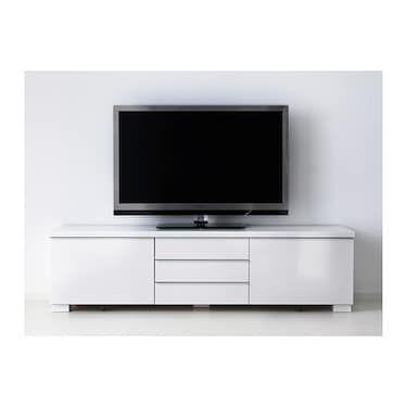 Besta Burs Tv Bench High Gloss White Ikea White Tv Unit White