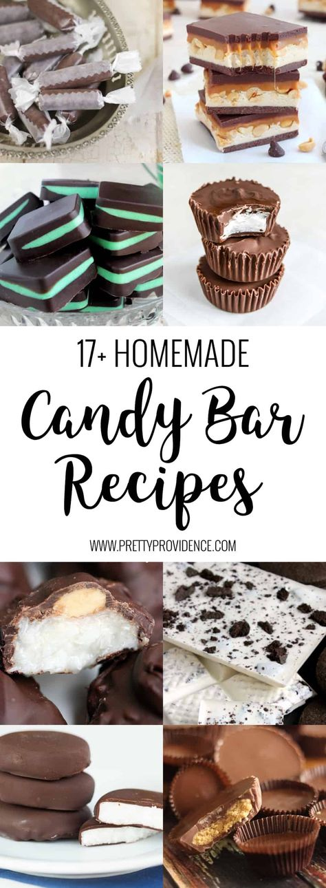 Candy Bar Recipes Candy Bar Recipes Karen Gray Recipes Make homemade Twix bars Take 5 Snickers candy bars and more with these nbsp hellip Chocolate bars Homemade Twix Bars, Homemade Chocolate Bars, Chocolate Bar Recipe, Chocolate Candy Recipes, Homemade Candies, Homemade Candy Recipes, Chocolate Candy Bars, Homemade Chocolates, Hershey Candy Bars