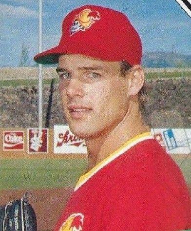 John Wetteland With The Albuquerque Dukes Baseball Minor