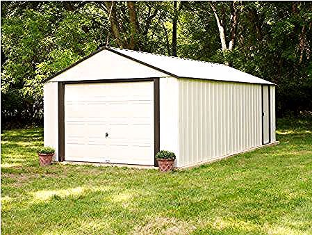 Arrow 12x10 Vinyl Murryhill Steel Garage Kit Vt1210 In 2020 Steel Storage Sheds Building A Shed Shed