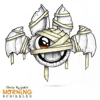 Vampire Mummy Bat Morningscribbles Spookyscribbles Cute Monsters Drawings Cute Drawings Monster Drawing