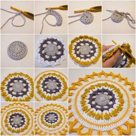 2 Tutoriales de Grannys y 1 Granny Mandala - Patrones Crochet