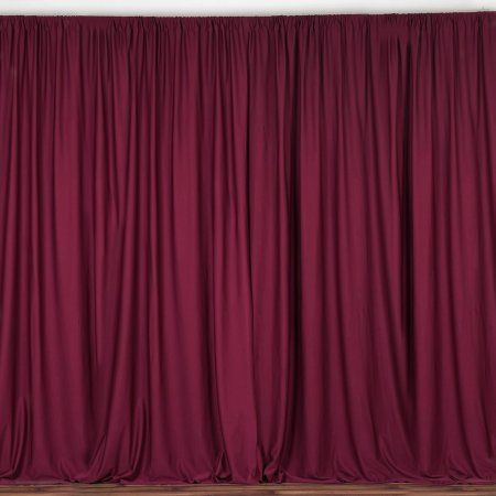 Buy Balsacircle 10 Ft X 10 Ft Polyester Professional Backdrop Curtains At Walmart Com Fire Retardant Curtains Burgundy Curtains Stage Backdrop